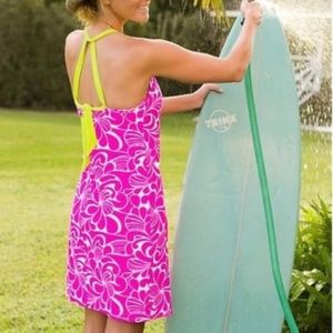Athleta Kokomo Swim Dress: Pink, white & green
